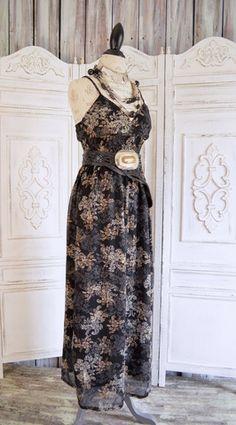 Floral Bohemian Maxi Dress, Boho dresses True Rebel Clothing
