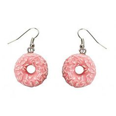 Collectif Donut Oorbellen Jewelery, Crochet Earrings, Retro, Pink, Vintage, Fashion, Jewlery, Moda, Jewels
