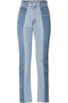 Denim - The Twin two-tone high-rise straight-leg jeans Denim Fashion, Fashion Outfits, Womens Fashion, Jean Outfits, Cute Outfits, Two Piece Outfit, New Wardrobe, Mode Inspiration, Couture