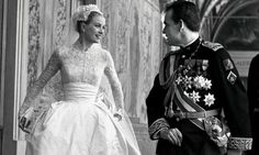 Grace Kelly: Style Icon at the V&A Grace Kelly and Prince Rainier III on their wedding day, Monaco, 1956. Photograph: Rex Features