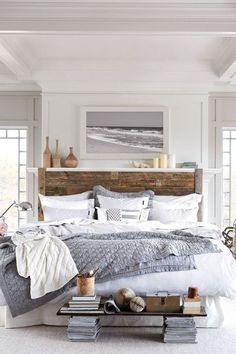 Interior Design Trends 2016: Try the coastal look in your city flat with natural materials, glass and breezy white draperies amara.com
