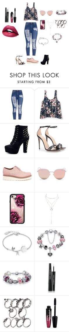 """""""Sem título #44"""" by ren-emily ❤ liked on Polyvore featuring Aéropostale, Gucci, Grenson, Stephane + Christian, Casetify, Charlotte Russe, Disney, WithChic, Bling Jewelry and Dolce&Gabbana"""