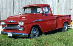 Find pictures of Chevy Trucks submitted by truck enthusiasts to show how truck owners are restoring their trucks. Chevy Trucks, Pickup Trucks, Classic Trucks, Classic Cars, 1959 Chevy Truck, Chevy Apache, Trucks Only, Chevy Pickups, Vintage Trucks