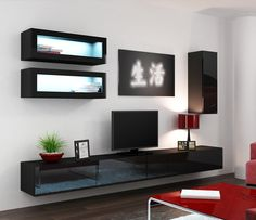 Seattle C2 - Modern Wall Units - LIVING ROOM FURNISH HOUSE UK