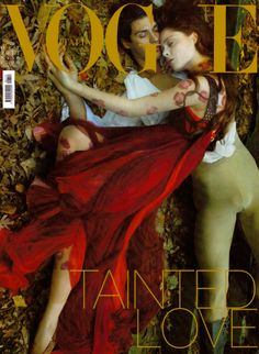 "Recreating Romeo and Juliet for VOGUE – ""Love of A Lifetime"" for VOGUE with Roberto Bolle and Coco Rocha. By Annie Leibovitz"