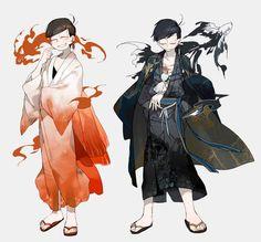 Osomatsu y Karamatsu Anime Comics, Anime Toon, Manga Illustration, Character Illustration, Osomatsu San Doujinshi, Ichimatsu, Hot Anime Guys, Anime Outfits, Fujoshi