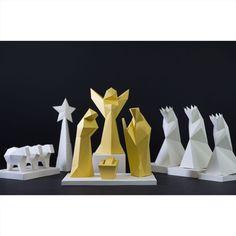 #Origami #3D Weihnachtskrippe von PaperShape