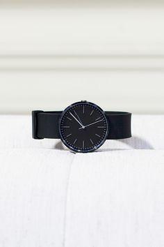 104 SERIES Wristwatch - PVD Black-Black Rubber | Emerson Fry