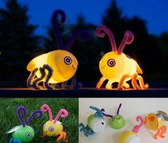CUTE Awesome Easter Egg Bug Crafts to do with the kids! You can also do a little … - Diy Craft Ideas Projects For Kids, Diy For Kids, Craft Projects, Craft Ideas, Fun Ideas, Play Ideas, Creative Ideas, Spring Crafts, Holiday Crafts