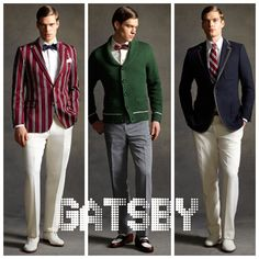 The Great Gatsby (2013) | From Brooks Brothers' Gatsby collection: looks inspired by Catherine Martin's costumes for Tobey Maguire (Nick Carraway).
