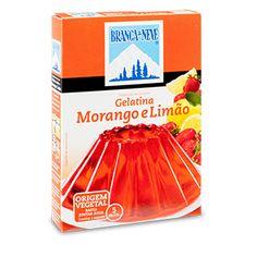 Gelatina sabor a Morango e Limão Branca de Neve