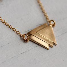 #bijou #collier #etsy #Geometric Triangle Necklace