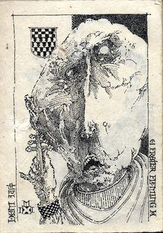 Pen and Ink on Lami li paper, Mentler