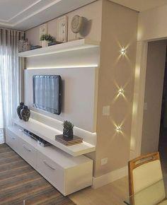 Best Home Sala Grande Planejado Ideas Living Room Wall Units, Small Living Rooms, Living Room Designs, Condo Living, Home Living Room, Living Room Decor, Modern Tv Wall Units, Sala Grande, Plafond Design