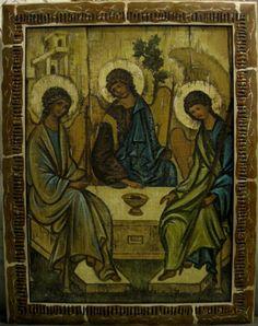 Святая Троица (холст,масло,лак-патина ...: https://www.pinterest.com/yadvigasenko/иконы...