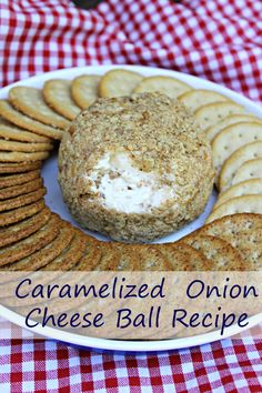 Amp up your next BBQ or party with this easy cheese ball recipe. My Caramelized Onion Cheese Ball is an easy appetizer recipe  and a real crowd pleaser!