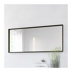 IKEA - NISSEDAL, Mirror, black, , Can be hung horizontally or vertically.Safety film reduces damage if glass is broken.Suitable for use in most rooms, and tested and approved for bathroom use.