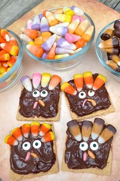 "I just love turkey time of year! These fun Turkey Snacks for kids are super cute to make for classroom treats and even to let the kids design their own turkeys!! You can easily adjust this as needed. Brach's sent us all sorts of delicious flavors of candy corn to use for our turkey ""feathers"" …"
