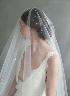 starry crystal veil, bridal veil, wedding veil, crystal stars veil, bridal accessories, wedding accessories, twigs and honey
