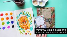 You get swatches and a cute kitten illustration with botanical elem. Watercolor Sketchbook, Jet Pens, Speed Paint, White Ink, Moleskine, Coloring Sheets, Kittens Cutest, Swatch, Branding