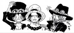 One Piece Ace, Sabo et Luffy ASL