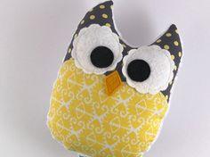 Plush Owl Mini Pillow Minky Softie