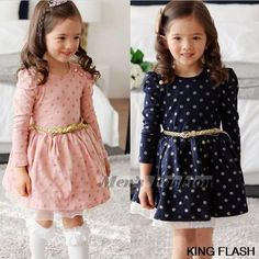Cheap dress actress, Buy Quality dress elmo directly from China dress for evening wedding Suppliers: Product name:2014 New Autumn Winter Kids Toddler Girls Princess Dress Long Sleeve Polka Dots Buttons Dress Ages With B