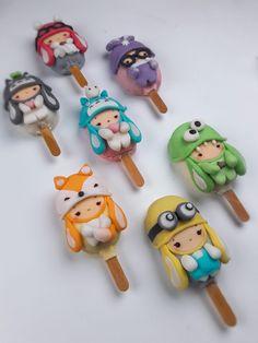 Cute Donuts, Cute Cookies, Cute Desserts, Frozen Desserts, Cake Pops, Paletas Chocolate, Magnum Paleta, Comida Disney, Kreative Desserts