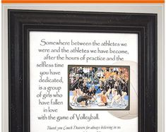 Volleyball Coach Appreciation Personalized Frame Thank You Gift, Volleyball Coach End of Season Thank You Team Gift Christmas Gifts For Parents, Wedding Gifts For Parents, Wedding Gifts For Bride, Personalized Picture Frames, Personalised Frames, Handmade Wedding Gifts, Photo Frame Design, In Memory Of Dad, Godmother Gifts