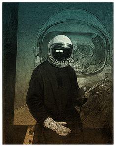 Tom Colbie • Cosmonaut • Spaceman • Astronaut • Skull