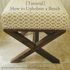 Tutorial: How to Upholster a Bench...