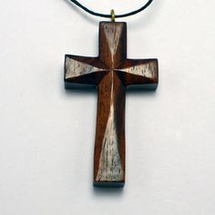 Wooden Cross Necklace Sono Wood Cross Pendant by BodyJewelryShop