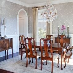 Traditional Dining Room By Jamison Howard Queen Anne With White And Gray