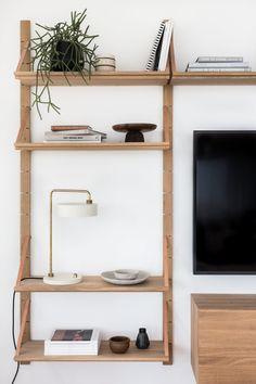 Project H - The Living Room - Avenue Lifestyle Avenue Lifestyle Living Room Flooring, Living Room Furniture, Studio Furniture, Corner Bookshelves, Room Shelves, Bookcases, Interior Styling, Interior Design, Interior Ideas