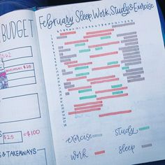 today I'm sharing a sleep, work, study, and exercise tracker I made for the month. Not ashamed to prove that I have not done any exercise… Bullet Journal Notebook, Bullet Journal Tracker, Bullet Journal Ideas Pages, Bullet Journal Inspiration, Journal Pages, Bullet Journals, Body Inspiration, Fitness Inspiration, Notes Taking