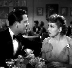 """Robert Young y Claudette Colbert en""""La encontré en París"""" (I met Him in Paris), 1937"""