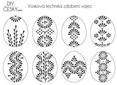 Motivy na velikonoční kraslice Easter Egg Crafts, Easter Projects, Polish Easter, Easter Egg Pattern, Carved Eggs, Easter Egg Designs, Ukrainian Easter Eggs, Egg Art, Egg Decorating