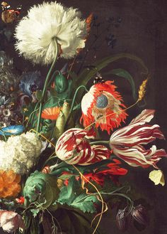 jaded-mandarin:  Jan Davidsz de Heem. Detail from Vase of Flowers, 1660.