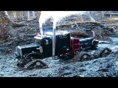 "RC ADVENTURES - Muddy Tracked Semi-Truck 6X6 HD OVERKiLL & 4X4 ""BEAST"" MT on the Trail"