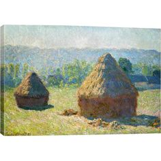 Add gallery-worthy appeal to your walls with this canvas print of Claude Monet's Haystack-End of the Summer.   Product: C...