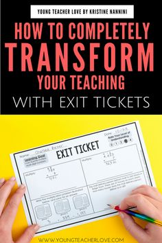 How Completely Transform Your Teaching with Exit Tickets - Young Teacher Love by Kristine Nannini - Tap the link to shop on our official online store! You can also join our affiliate and/or rewards programs for FREE! Teaching Strategies, Teaching Tips, Teaching Math, Maths, Teaching 6th Grade, Elementary Teaching, Teaching History, Elementary Science, Science Classroom
