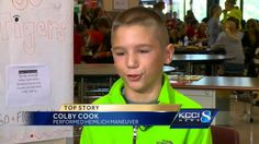 Boy jumps into action to save friend's life
