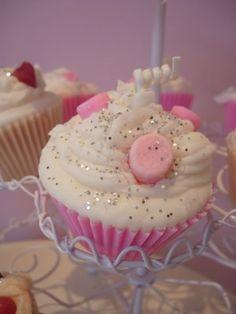 I like the edible sparkles! Princess Tea Party, Princess Birthday, Princess Cakes, Sparkle Crafts, Pink Marshmallows, Cupcake Candle, Birthday Parties, 4th Birthday, Birthday Ideas