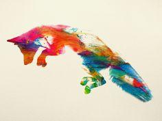 Jumping Fox Art Print