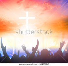 blurred christ cross christian, christianity, worshiping, worship, pray, prayer, god, faith, light, sky, heaven, heavenly, future, concept, symbol, spiritual, idea, clouds, believe, belief,