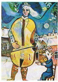 Marc Chagall - Il violoncellista, 1939