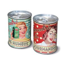 Suola- ja pippurisirotin conentres 50s Deco Retro, Retro Vintage, Ravioli, Natives Deco, Home Living, Kitchen Items, Coffee Cans, Shot Glass, Nativity