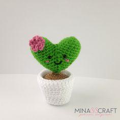 Cactus Heart Amigurumi – Minasscraft Patrones Amigurumis