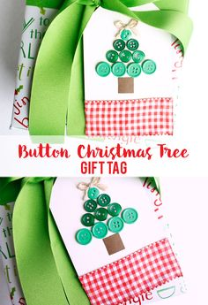 DIY Gifts 2018 Wrap your presents with something fun and festive. Button Christmas Tree Gift Tag is a great way to add some pizzaz to your gifts 3d Christmas, Christmas Tree With Gifts, Holiday Gift Tags, Handmade Christmas Gifts, Christmas Sewing, Christmas Things, Christmas Items, Holiday Ideas, Christmas Stockings