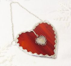 Red Heart by MoreThanColors on Etsy, $25.00